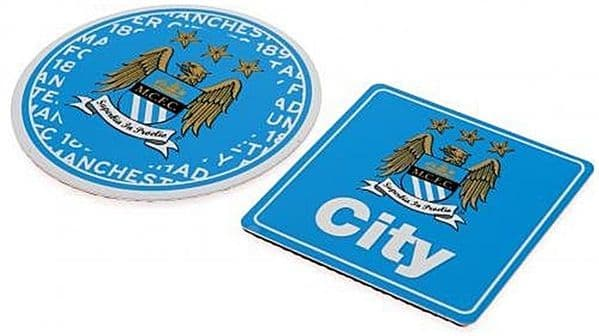 Manchester City FC set of 2 mini metal signs (spg)